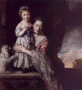 Sir Joshua Reynolds The Countess Spencer with her Daughter Georgina oil painting